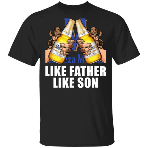 Like Father Like Son Modelo Especial T-shirt Beer Drinking Father's Day Tee VA05-Bounce Tee