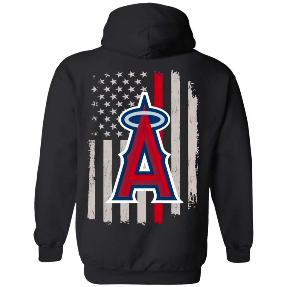 Los Angeles Angels Team American Flag Hoodie Gift VA07-Bounce Tee