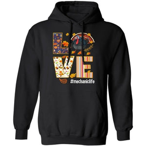 Love Mechanic Life Thanksgiving Turkey Hoodie Nice Gift MT10-Bounce Tee