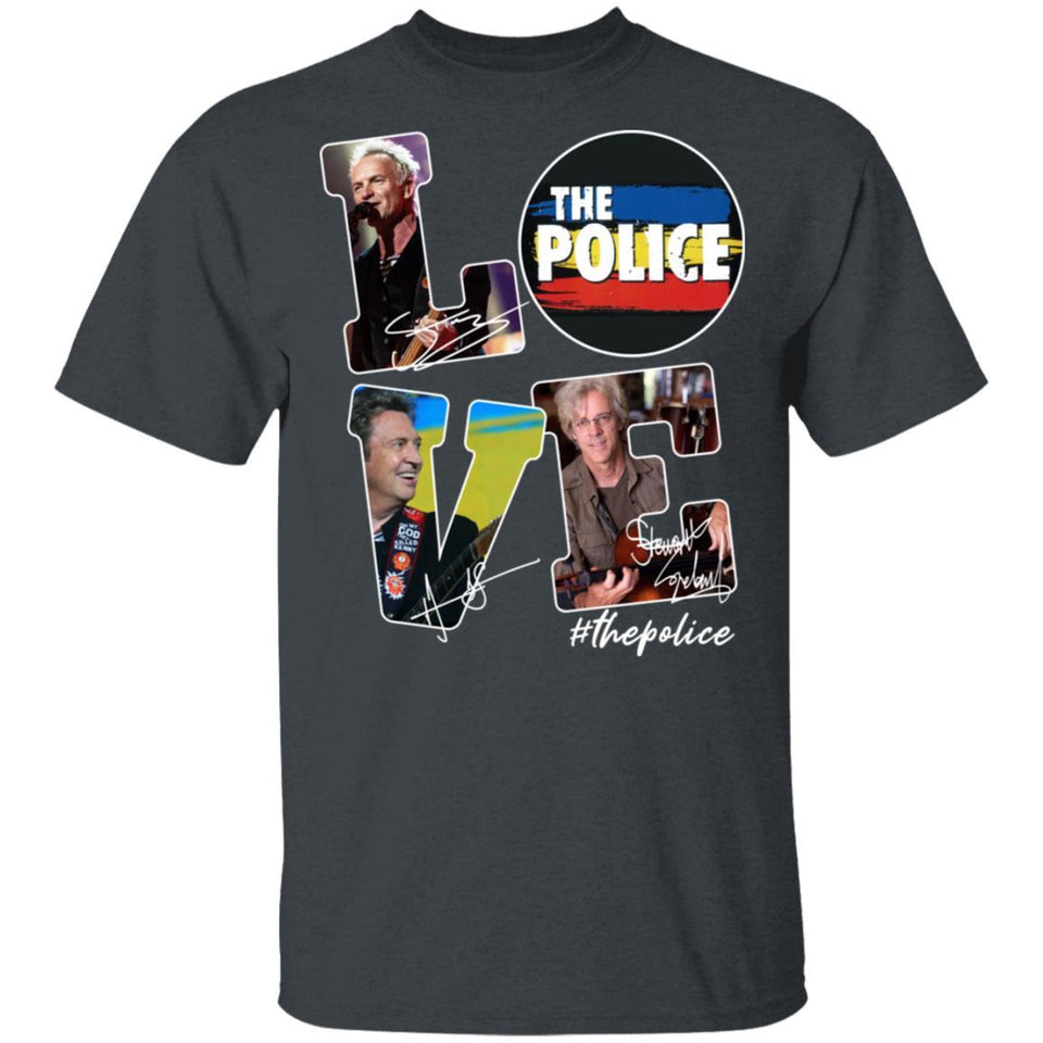 Love The Police T-shirt Classic Rock Tee VA03-Bounce Tee