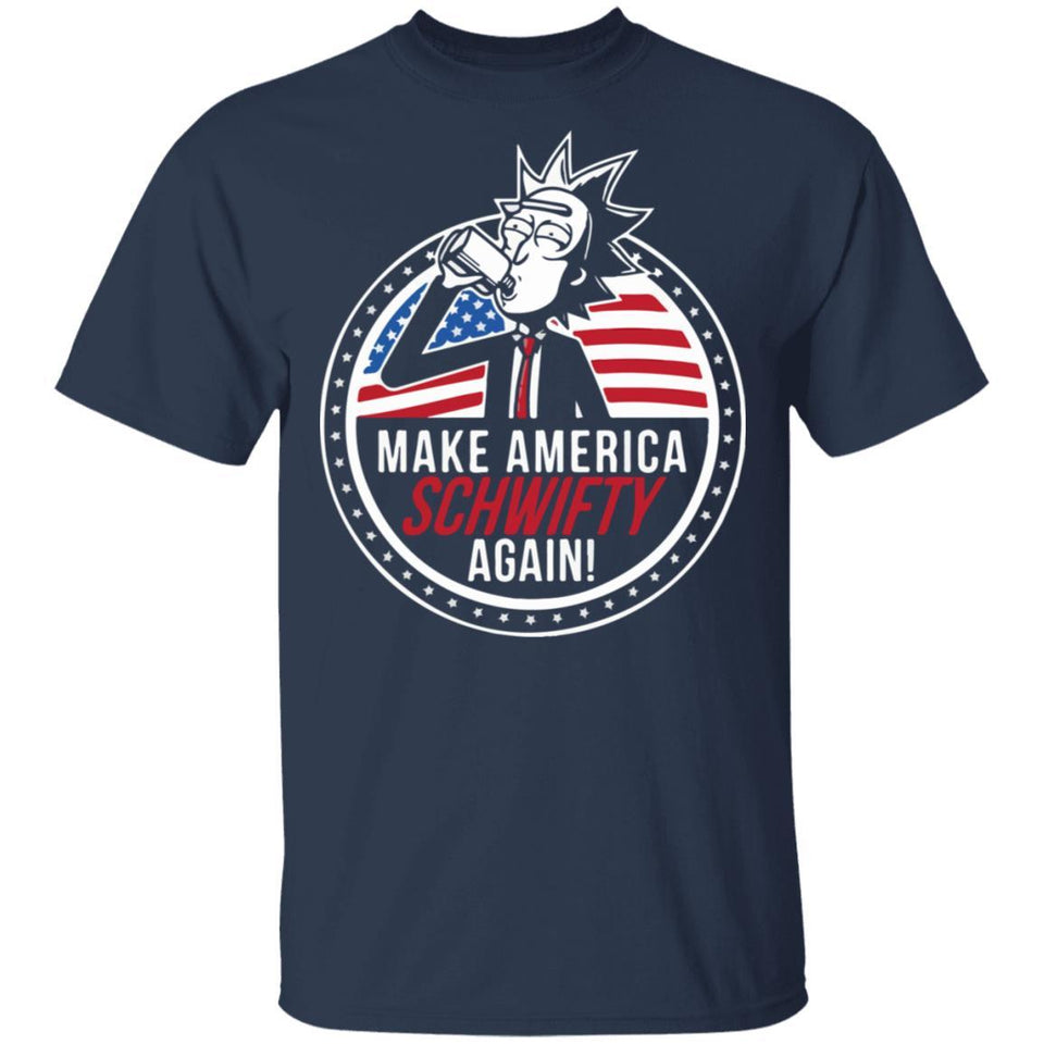 Make America Schwifty Again T-shirt Rick And Morty 4th Of July Tee MT05-Bounce Tee