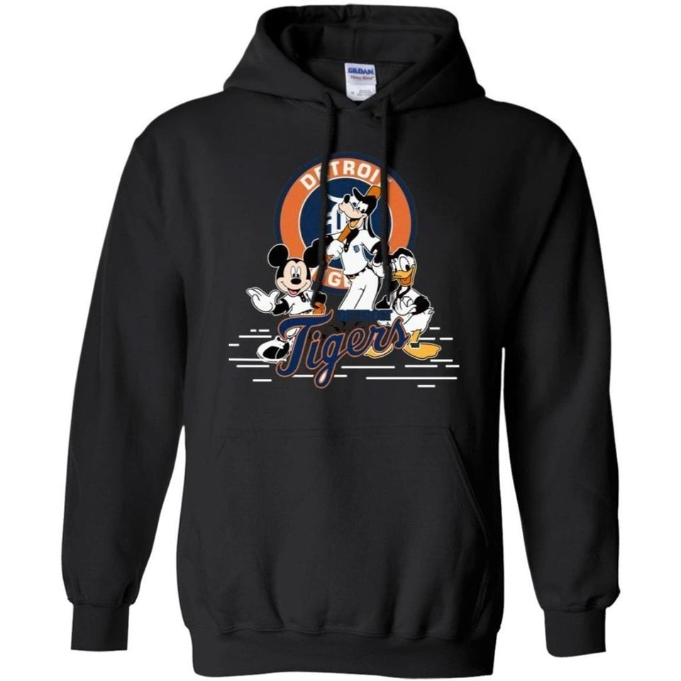 Mickey Goofy And Donald Detroit Tigers Team Hoodie Gift HT207-Bounce Tee