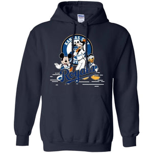 Mickey Goofy And Donald Kansas City Royals Team Hoodie Gift HT207-Bounce Tee