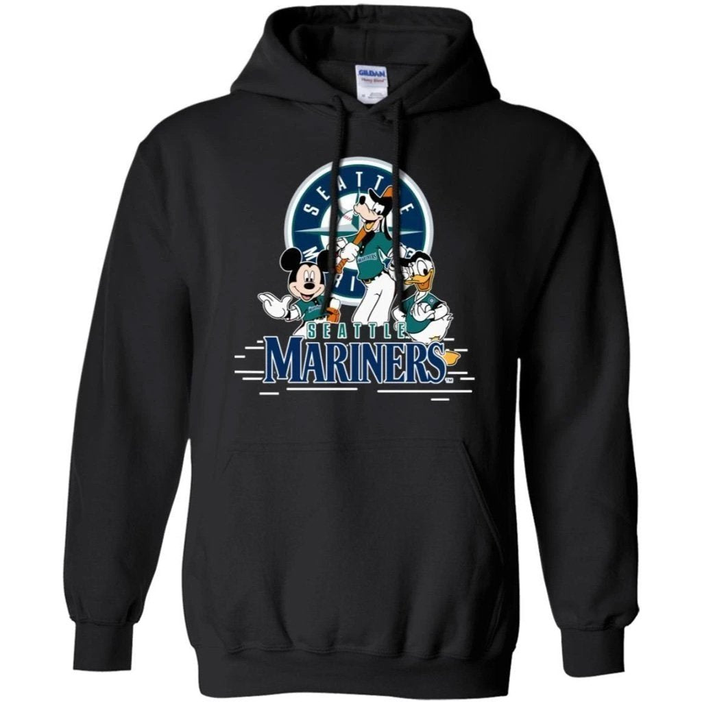 Mickey Goofy And Donald Seattle Mariners Team Hoodie Gift HT207-Bounce Tee