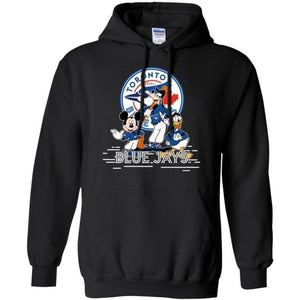 Mickey Goofy And Donald Toronto Blue Jays Team Hoodie Gift HT207-Bounce Tee