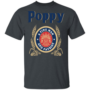 Miller Lite Poppy T-shirt A Fine Man And Patriot Beer Tee VA05-Bounce Tee