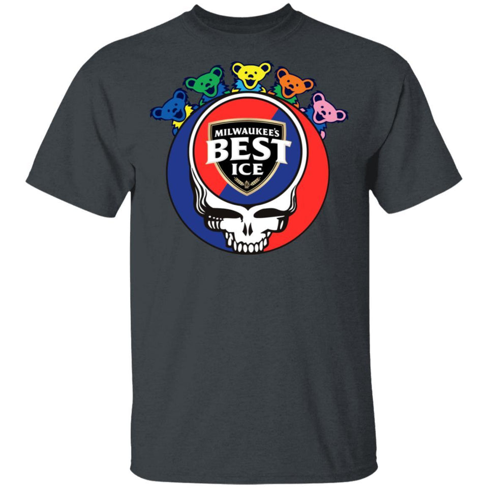 Mil's Best Ice In Grateful Dead Head T-shirt Grateful Beer Tee PT03-Bounce Tee