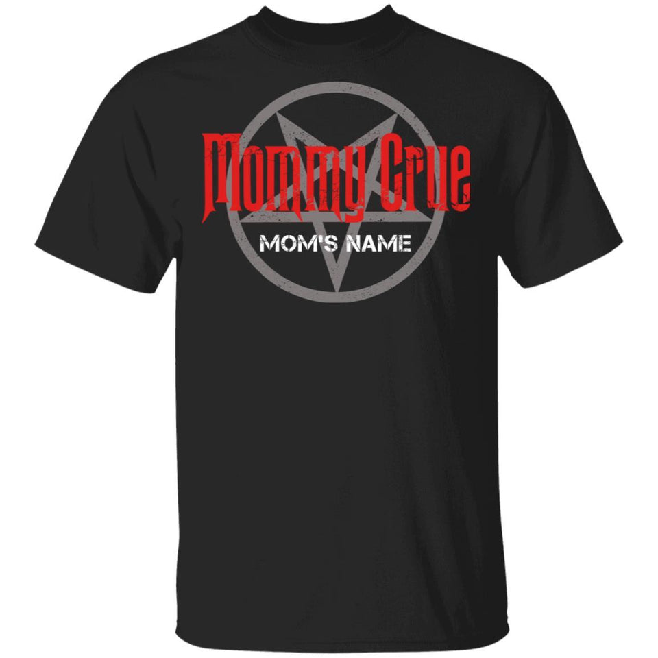 Mommy Crue Motley Crue Mom Personalized T-shirt Mother's Day Rock Tee VA06-Bounce Tee
