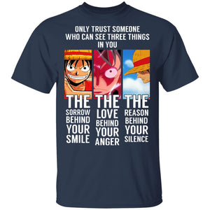 Monkey D Luffy Only Trust Someone T Shirt One Piece Anime Tee-Bounce Tee