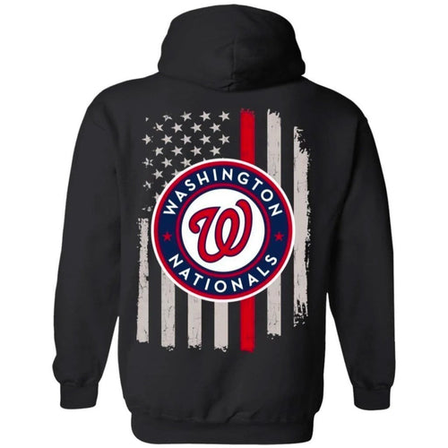 Nationals American Flag Hoodie Gift For Fan VA07-Bounce Tee