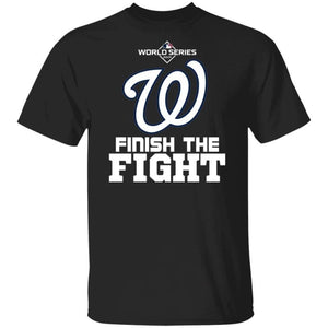 Nationals Finish The Fight Champion Shirt Gift For Fans VA10-Bounce Tee