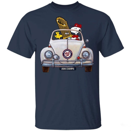Nationals Snoopy Bringing Champs Trophy Home Shirt Cool Gift MT10-Bounce Tee
