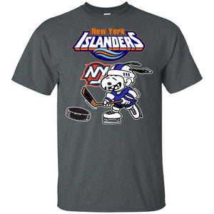 New York Islanders Snoopy Hockey T-shirt Funny Fan Men Women-Thebouncetee.com