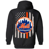 New York Mets Team American Flag Hoodie Gift VA07-Bounce Tee