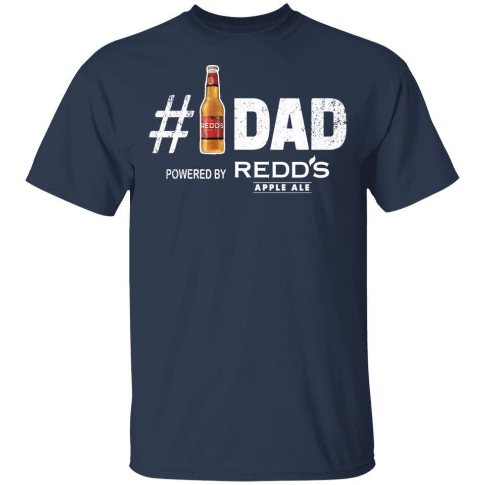 Number 1 Dad Powered By Redd's Apple Ale T-shirt Father's Day Beer Tee MT05-Bounce Tee