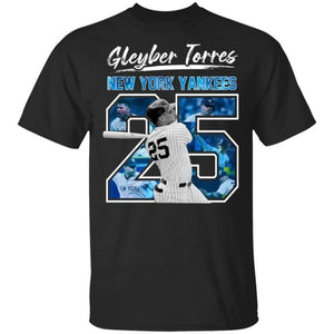 Number 25 New York Yankees Gleyber Torres T-shirt Perfect Gift for Fans TT08-Bounce Tee