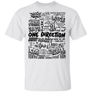 One Direction T-shirt 1D Reunion Tee VA04-Bounce Tee