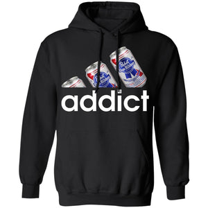 Pabst Blue Ribbon Addict Hoodie Shirt Funny Beer Lover Gift MT12-Bounce Tee
