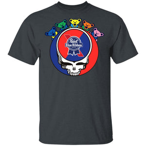 Pabst Blue Ribbon In Grateful Dead Head T-shirt Grateful Beer Tee PT03-Bounce Tee
