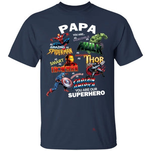 Papa you are our Superheroes T-Shirt Funny Gift Idea-Bounce Tee