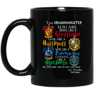 Personalized Harry Potter's Houses Mug From Grandma To Granddaughter Mug MT10-Bounce Tee