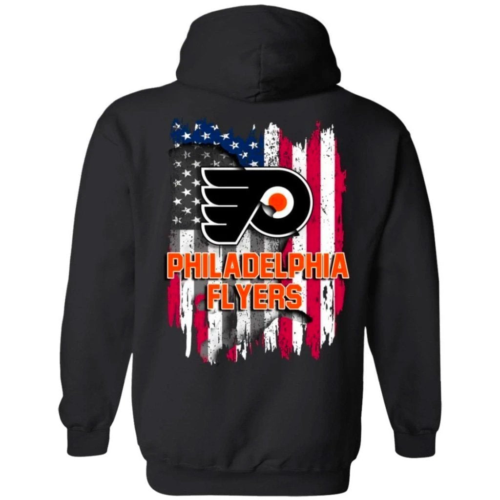 Philadelphia Flyers American Flag Hockey Hoodie Men Women Fan-Bounce Tee