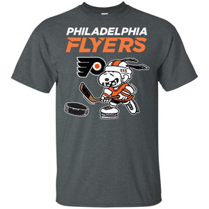 Philadelphia Flyers Snoopy Hockey T-shirt Funny Fan Men Women-Thebouncetee.com