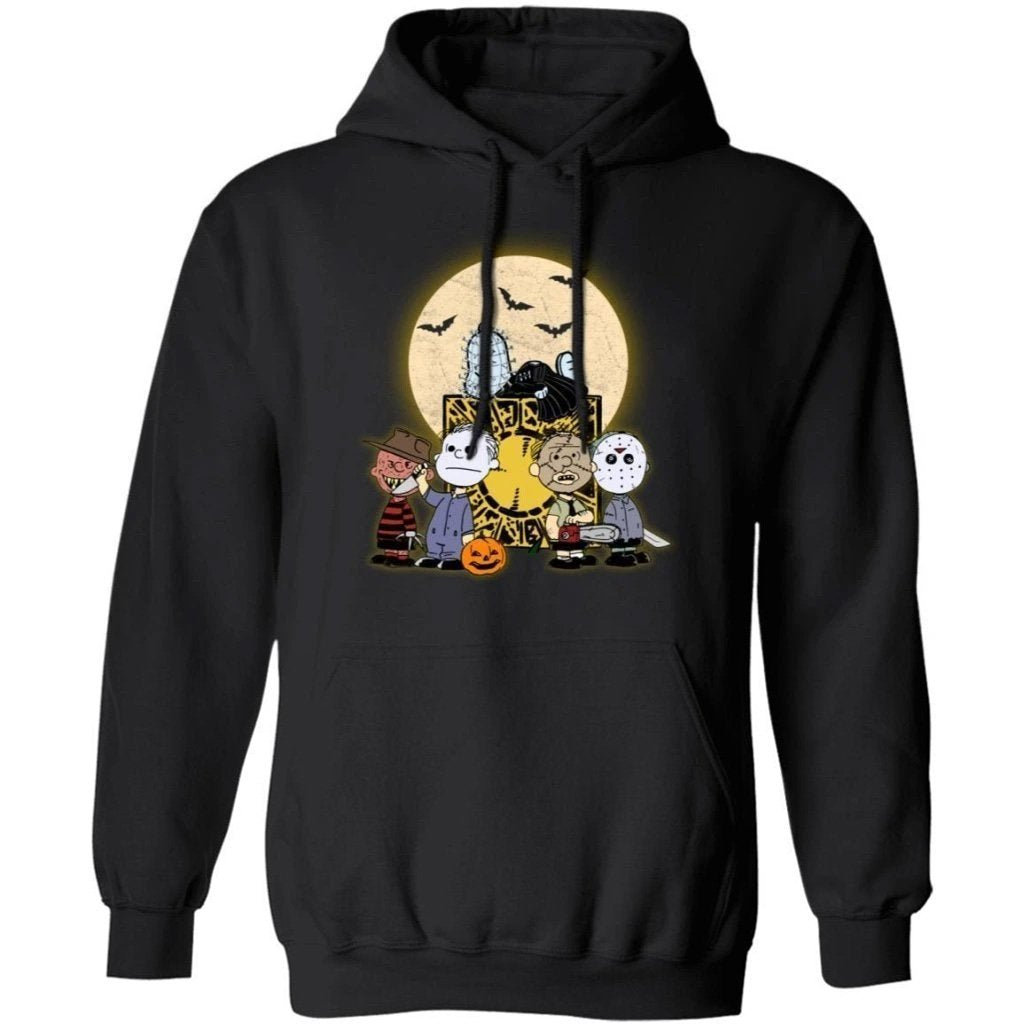 Pinhead Snoopy And Horror Peanuts Friends Halloween Hoodie Funny Gift TT09-Bounce Tee