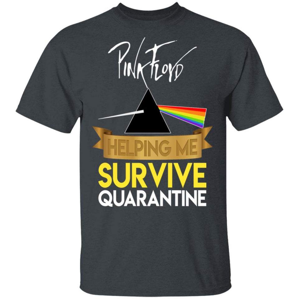 Pink Floyd Helping Me Survive Quarantine T-shirt Rock Tee HA05-Bounce Tee