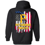 Pittsburgh Pirates American Flag Hoodie Men Women Fan-Bounce Tee