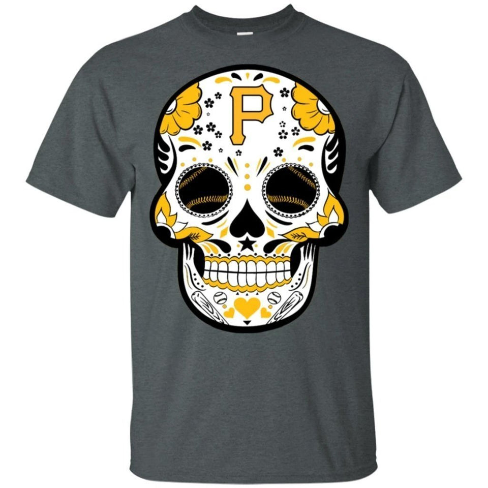 Pittsburgh Pirates Sugar Skull Baseball Team Shirt Fan Gift Idea LT02-Bounce Tee