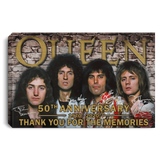 Queen Canvas Poster 50th Anniversary 1970 - 2020 Poster VA03-Bounce Tee