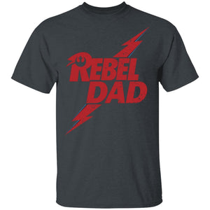 Rebel Dad T-shirt David Bowie Mixed Star Wars Father's Day Tee MT05-Bounce Tee