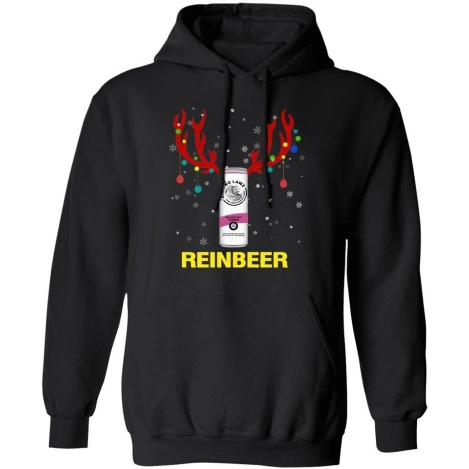 Reinbeer White Claws Beer In Red Reindeer Horns Christmas Hoodie Funny Gift HA10-Bounce Tee
