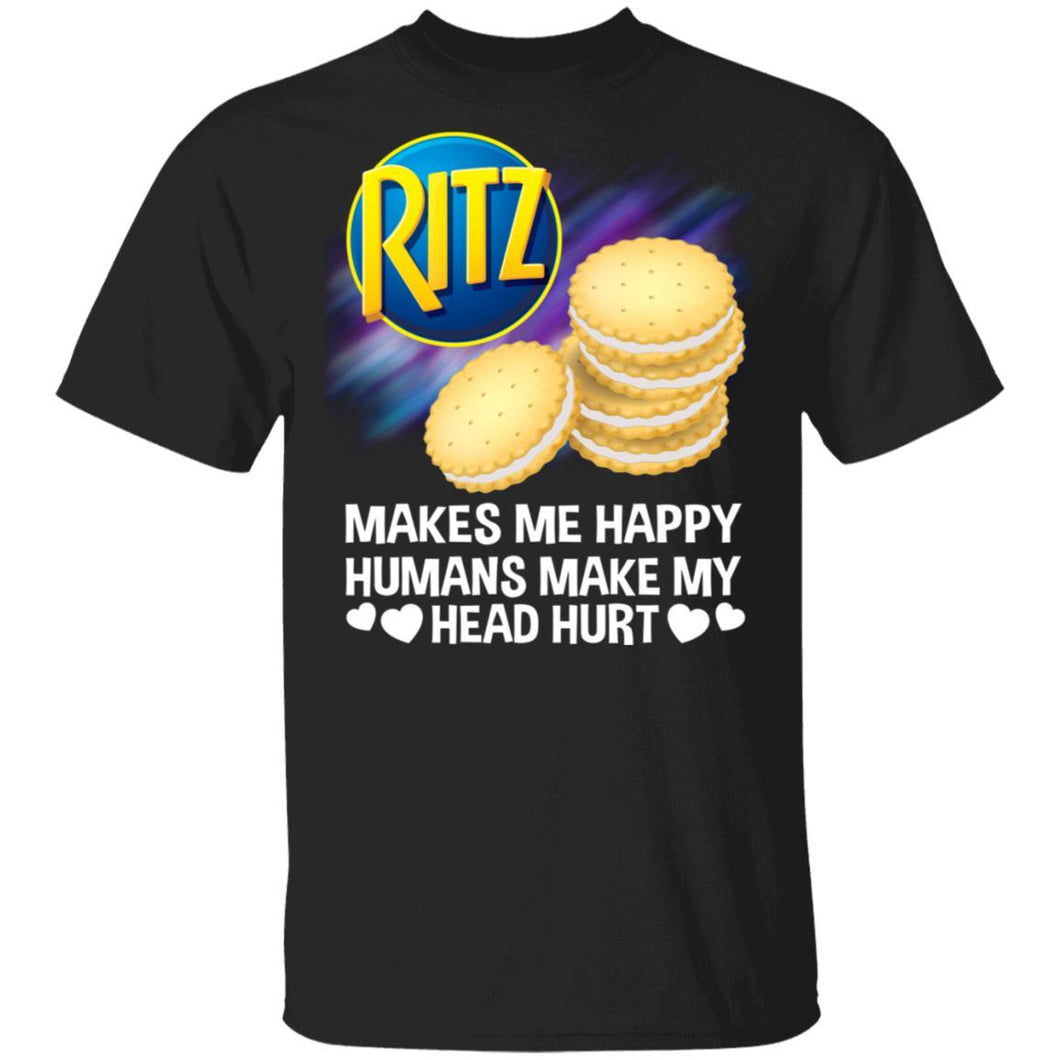 Ritz Makes Me Happy Humans Make My Head Hurt T-shirt MT03-Bounce Tee