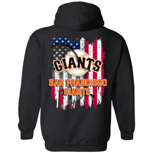 San Francisco Giants American Flag Hoodie Men Women Fan-Bounce Tee