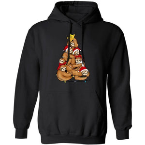 Sloth Christmas Tree In The Christmas Lights Hoodie Funny Gift MT10-Bounce Tee