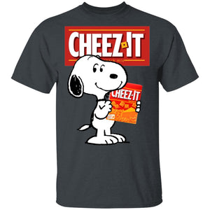 Snoopy And Cheez It T-shirt Funny Snack Tee VA12-Bounce Tee