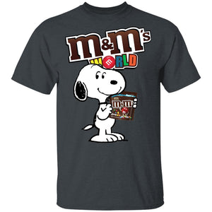 Snoopy And M&M's T-shirt Funny Snack Tee VA12-Bounce Tee