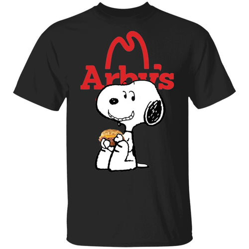 Snoopy Eating Arby's T-shirt Fast Food Tee VA12-Bounce Tee