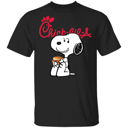 Snoopy Eating Chick-fil-A T-shirt Fast Food Tee VA12-Bounce Tee