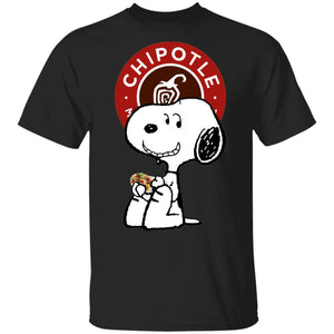 Snoopy Eating Chipotle T-shirt Fast Food Tee VA12-Bounce Tee