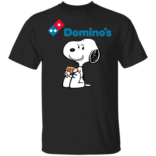Snoopy Eating Domino's T-shirt Fast Food Tee VA12-Bounce Tee
