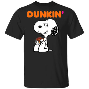 Snoopy Eating Dunkin' T-shirt Fast Food Tee VA12-Bounce Tee