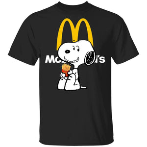 Snoopy Eating McDonald's T-shirt Fast Food Tee VA12-Bounce Tee