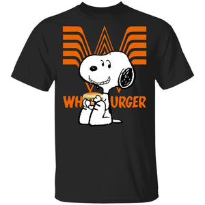 Snoopy Eating Whataburger T-shirt Fast Food Tee VA12-Bounce Tee