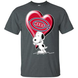 Snoopy Love Reds Team Heart for Fan Shirt KA02-Bounce Tee