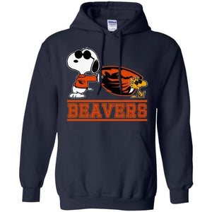 Snoopy Oregon State Beavers Hoodie Cool Gift For Fans HA08-Bounce Tee