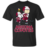 Snoopy & Peanut Arizona Coyotes Hockey T-Shirt-Bounce Tee
