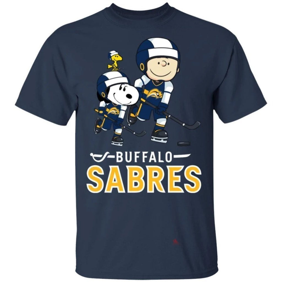 Snoopy & Peanut Buffalo Sabres Hockey T-Shirt-Bounce Tee
